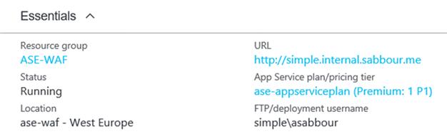 Web App settings