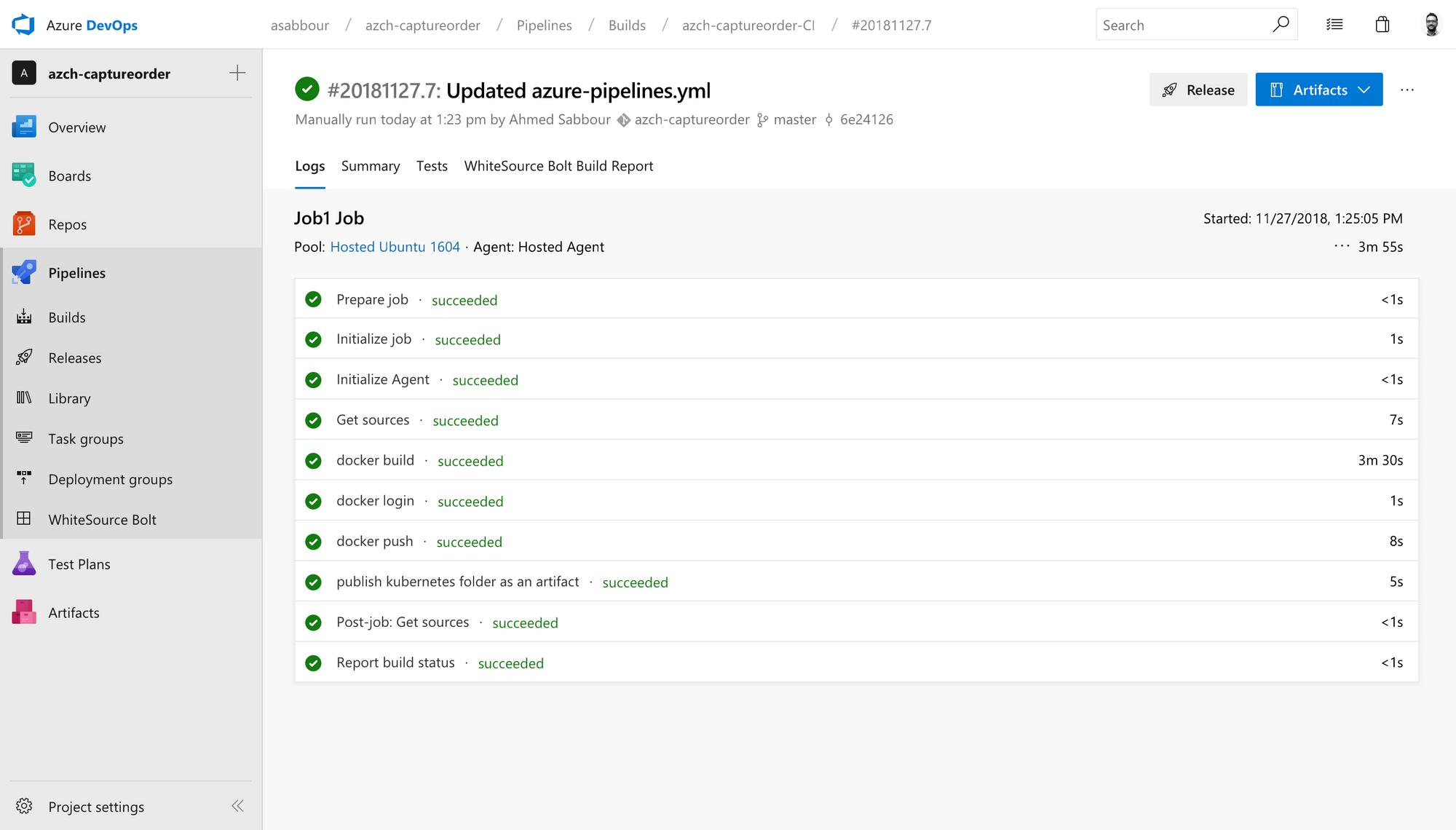 Kubernetes CI/CD pipelines using Azure DevOps